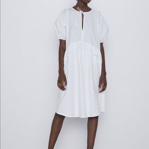 Zara cotton asymmetrical dress bloggers favorite L
